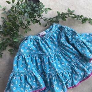 Mini Biden Blue Flowy Skirt Sz 4-5yr